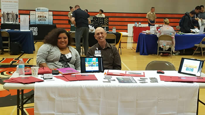 Carmen & Don set up at our first Career Fair