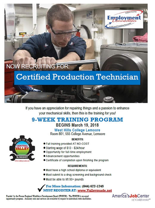 Certified Production Technician
